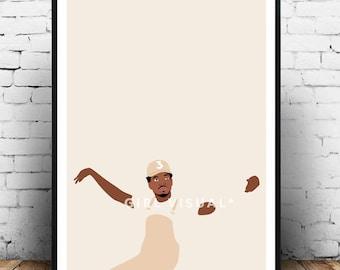 Chance the Rapper, Chance the rapper poster, Chance the rapper print, Hip Hop rap poster, Chance the rapper wall decor, Coloring book