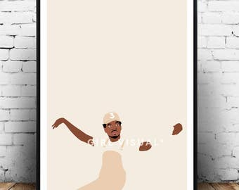 Chance The Rapper Poster Print Hip Hop