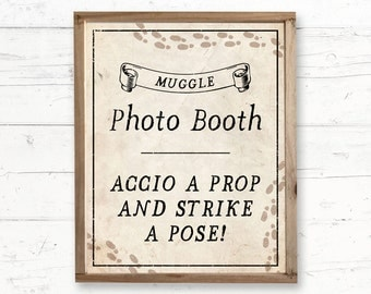 Harry Potter Photo Booth Printable Bridal Shower, Baby Shower and Birthday Sign, Instant Download Printable 8x10 Sign