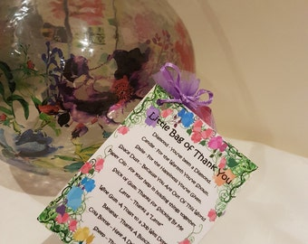 Little Bag of Thank You - Novelty Gift for a friend or loved one