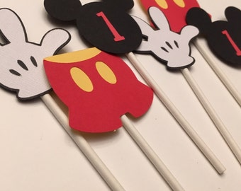 MICKEY MOUSE CUPCAKE Toppers, Mickey Birthday Party,  Birthday Decoration, Disney Birthday  Party cup cake