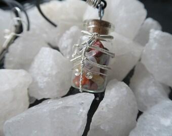 Glass Flask Pendants: Happiness