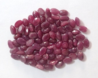 81 pcs Natural Ruby (Unheated)   oval faceted Loose Gemstone India