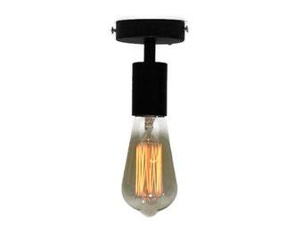 Flush mount lamp, Pendant Metal Lamp, Industrial lamp, metal lamp, Hanging loft lamp, edison lamp,  steel lamp, spot light, modern lamp