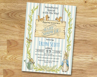 Peter Rabbit Baby Shower Invitation // DIGITAL FILE Only