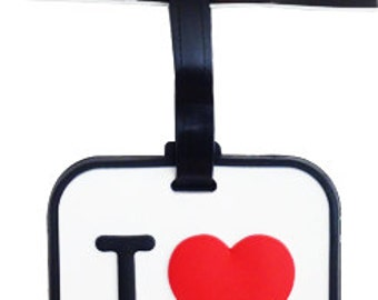 I Love New York Black White or Pink Luggage Tag