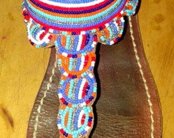 Beaded Maasai Sandal