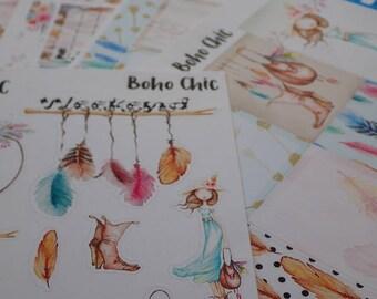 Boho Chic Mini Sticker Kit