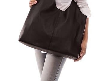 Leather hobo bag - Hobo bag - leather bag - black hobo bag - soft leather bag - slouchy hobo bag - large hobo bag - black leather hobo