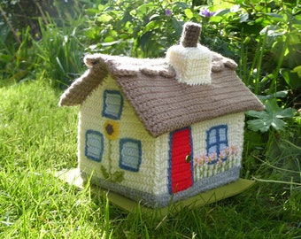 Thatched cottage crochet pattern