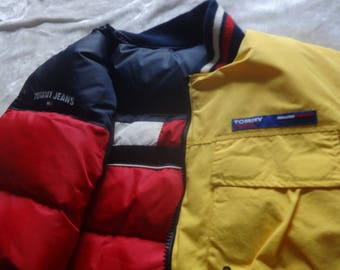 New Vintage  L Tommy Hilfiger Jeans duck down puffer  reversible vest size L