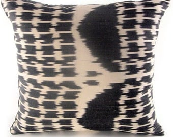 Eros (b) Ikat Pillow, Handmade Pillow