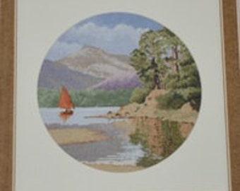 Cross stitch picture Sailing Ship