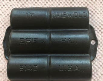 Vintage Griswold #17 Gem Pan p/n 6140-Excellent Condition FREE SHIPPING!