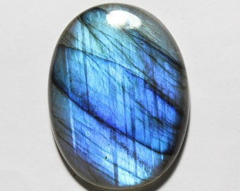 40% Off Natural BLUE LABRADORITE Gemstone 46x35x8mm Oval Shape Smooth Loose Gemstone Cabochon +++AAA Quality labradorite