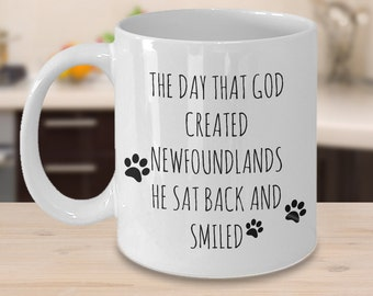 Newfoundland Mugs - The Day That God Created Newfoundlands - Gifts for Newfoundland Lovers