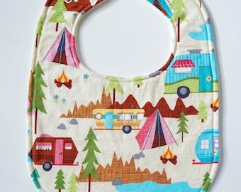 Drool Baby Drool Super Absorbent Happy Camper Bib (Snaps)