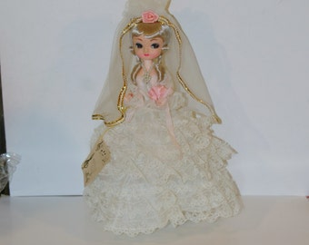 Vintage Big Eyed Bradley Musical Wedding Doll