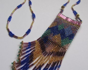 Beaded Amulet Necklace.