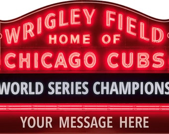 Customizable Wrigley Field Marquee