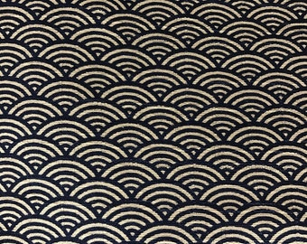 Japanese Traditional Waves Pattern Fabric