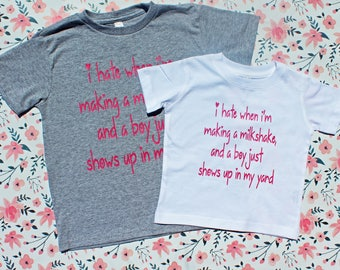 Milkshake shirt, toddler girl shirt, cute tee, toddler girl clothes, toddler tee, trendy shirt, toddler shirts, toddler girl, girl clothes