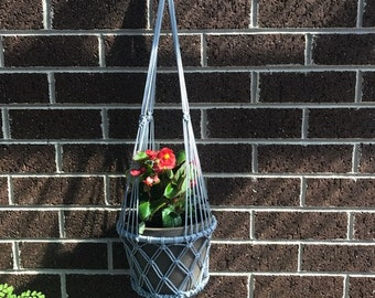Macrame hanging basket indoor/outdoor light grey other colours available