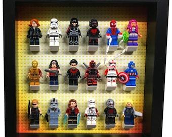 Lego Avengers Lego frame Lego wedding gifts Lego minifigure gift Lego Art (black)