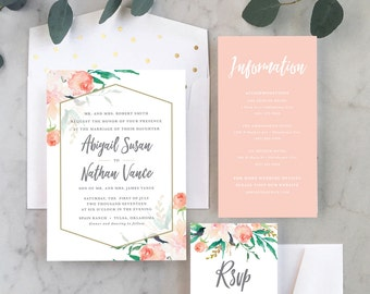 Soft + Springy Wedding Invitations