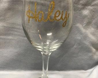 Name/ Mr. Mrs. Wine Glasses