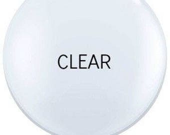 """36"""" Clear Latex Large Balloon - Set of 2"""