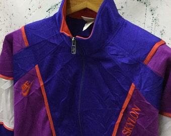 vintage 90s Nike Skylon Track Top Trainer Neon Bomber Zipped Up Jacket Sport