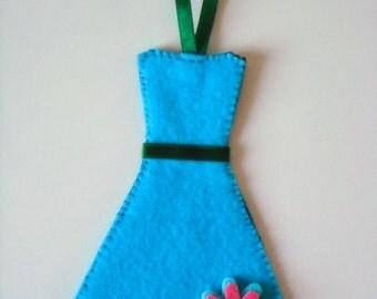 Blue Dress Bookmark