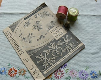 ABC of Embroidery, Woman's Day Gift Book with unused transfer