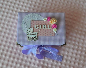 Baby box for girl, Baby Keepsake Box, Princess Memory box, Christening gift