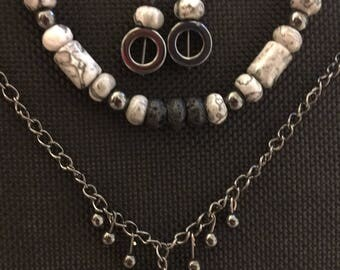 Diffuser Jewelry Set--Marble