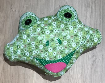 Frog Patchwork Cushion