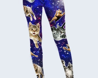 Cats Leggings, Funny Leggings, Womens Leggings, Best Leggings, Leggings for Women, Cool Leggings, Fashion Leggings, Colored Leggings, Space