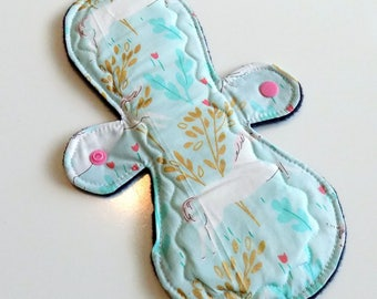 SECONDS SALE Wee Wonders 9 inch cloth pad and mama cloth moderate to heavy flow hippy moontime postpartum zero waste essential oils