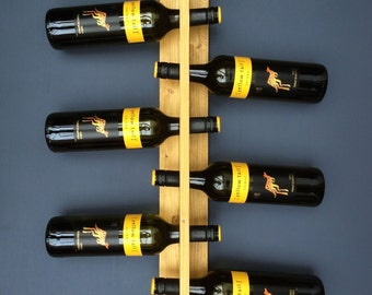 Wall-Mounted Wooden Wine Rack