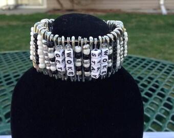 Get Woke, Stay Woke Safety Pin Cuff Bracelet