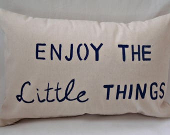 Decorative pillow, Pillow cover, Throw pillow, Nautical, Phrases, Words, Inspiration, Navy, Outdoor, Livingroom, Black, Coastal