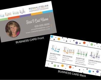 100 Rodan + Fields Customized Printed Business Cards w/Photo