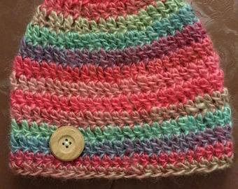 Crocheted Basic Beanie for children