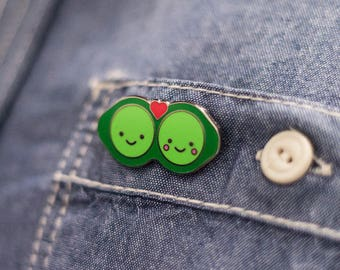 Two Peas in a Pod Hard Enamel Pin
