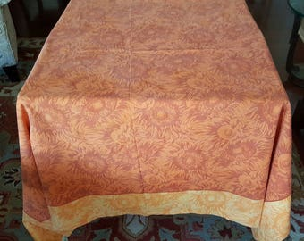 """Tablecloth / Square / 63"""" x 65"""" / VENT du SUD French Country / Sunflowers / Very Provence / Vintage"""