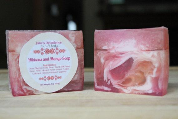 Hibiscus and Mango Soap | Jane's Decadence Bath & Body