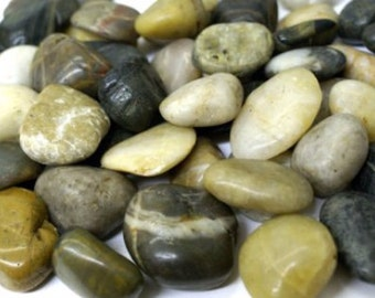 "Mixed color river rocks, 5.5 lb. Bag, 3/4"" to 1 1/2"" (FREE SHIPPING)"