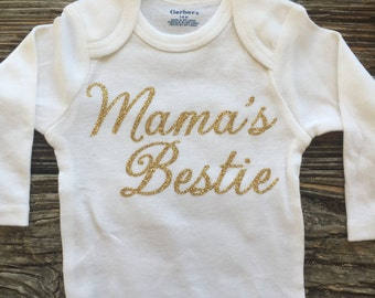 Mamas Bestie, Baby Girl Onesie, Baby Shower Gift, Baby Girl Gift, Infant Clothing, Cute Baby Gift, Newborn Onesie