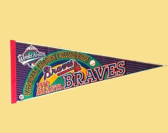 Atlanta Braves Pennant -- 1992 National League Championship (full size)